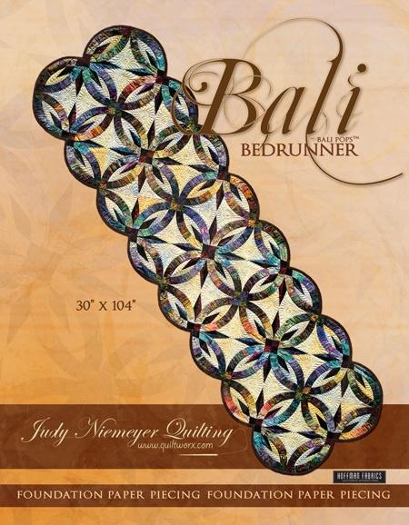 Bali Bedrunner Pattern Judy Niemeyer Paper Piece Double Wedding Ring Quilting | eBay