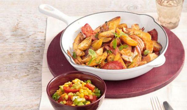 Sooo lecker: Kartoffelpfanne mit Hähnchenbrustfilet