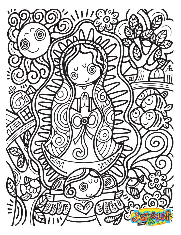 COLOUR IT, SEW IT, TRACE IT, ETC. virgencita distroller
