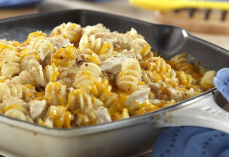 This quick-cooking skillet dish delivers comfort food fast. It's ready in less than 30 minutes and features tuna, pasta and melted cheese, with a bread crumb topping that can't be beat.