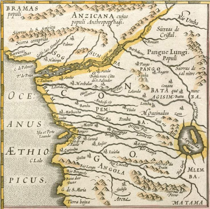 Mercator Congo map - Bantu peoples - Wikipedia LEMBA in West South Central Africa on old pre-colonized African map