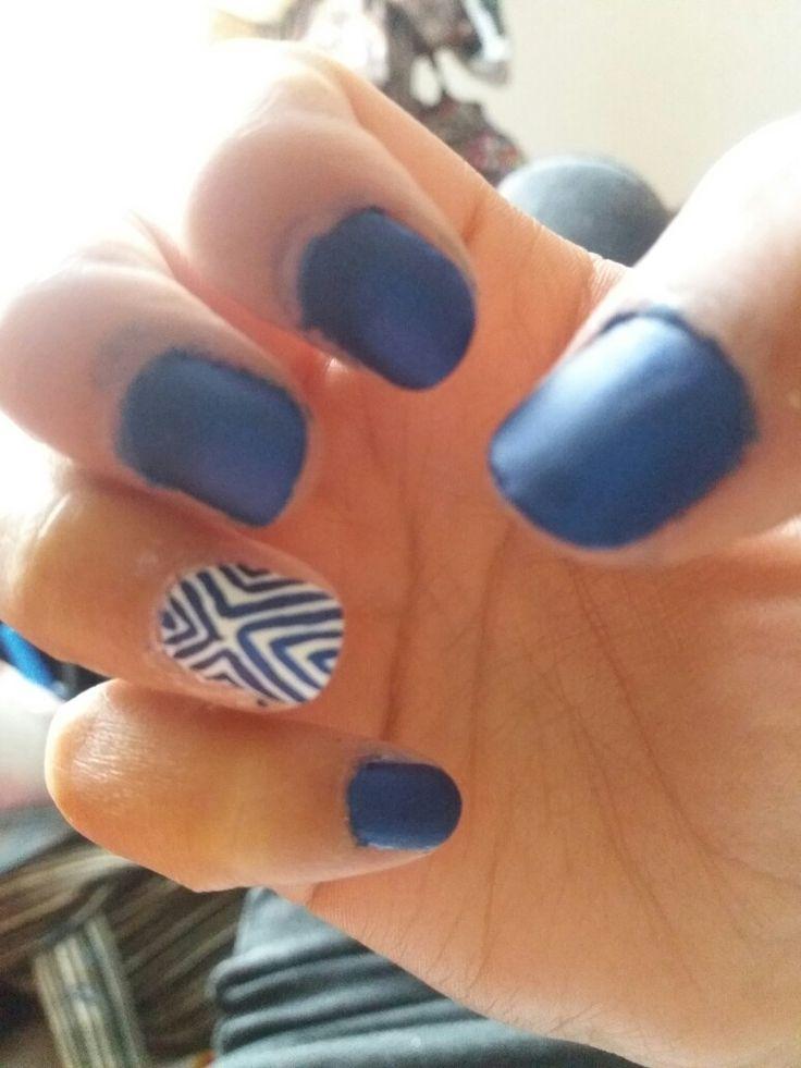 #nails #blue #mate