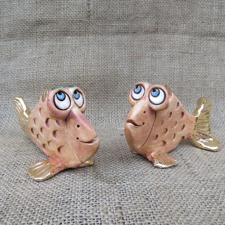 keramická rybka zlatá, keramika, Keramika Jandovi