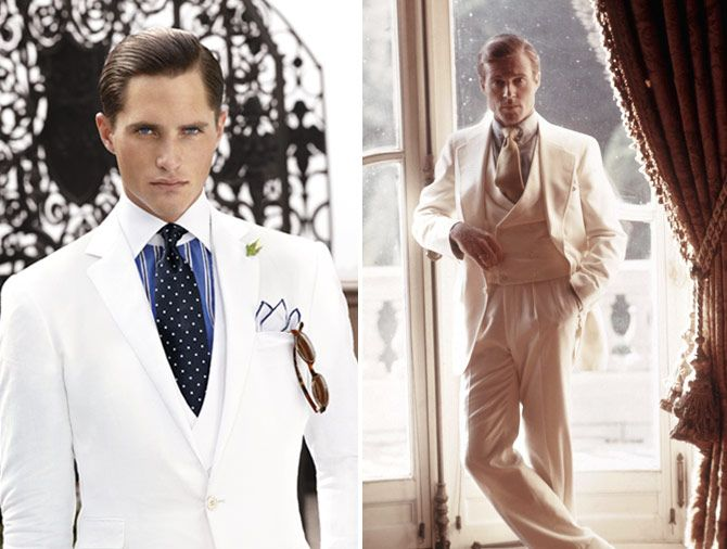 Don't forget the men's look for a vintage wedding  - See more 1920s wedding inspiration at www.3d-memoirs.com