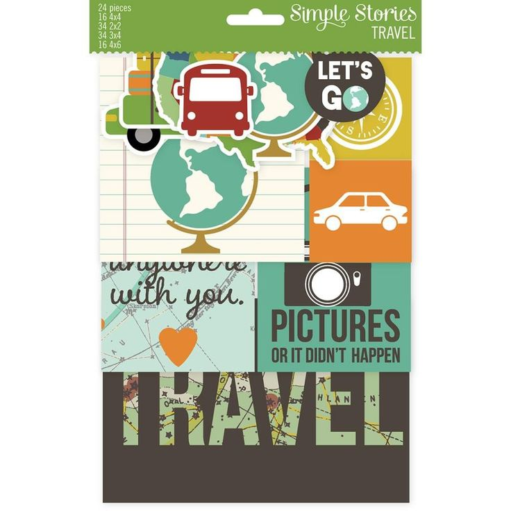 Travel Simple Story Snap Packs (117/Pkg) Sn@p! Card Pack