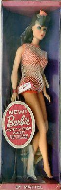 In 1967, the first Mod Barbie Dolls were released.   Twist 'n Turn Barbie. My older sister had this Barbie doll.