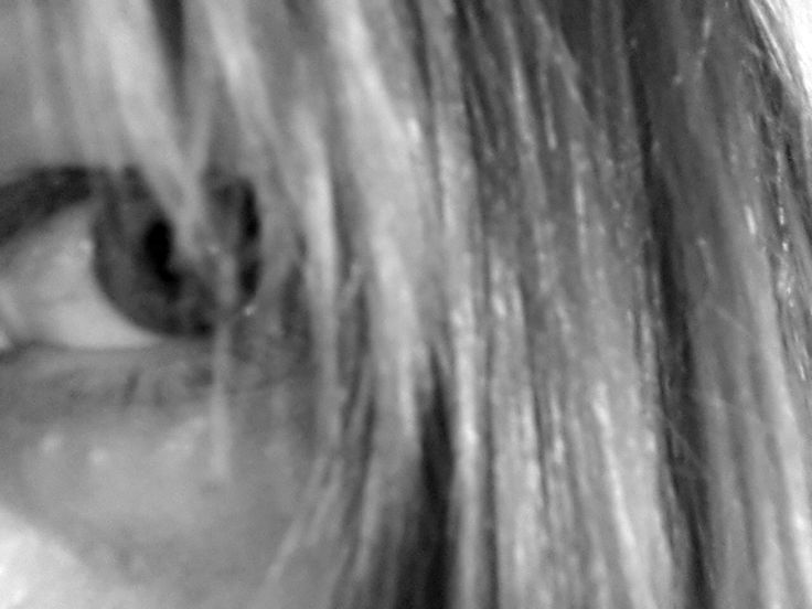 black white woman eye fear