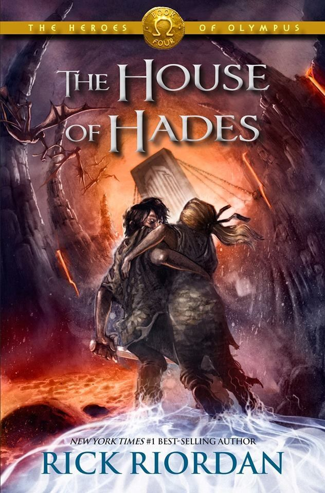 The cover for the fourth book of the Heroes of Olympus series house of Hades
