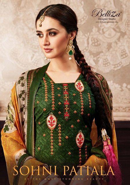 27218d3923 belliza designer sohni patiyala cotton print summer suits ethnic collection  - Krishna Creation