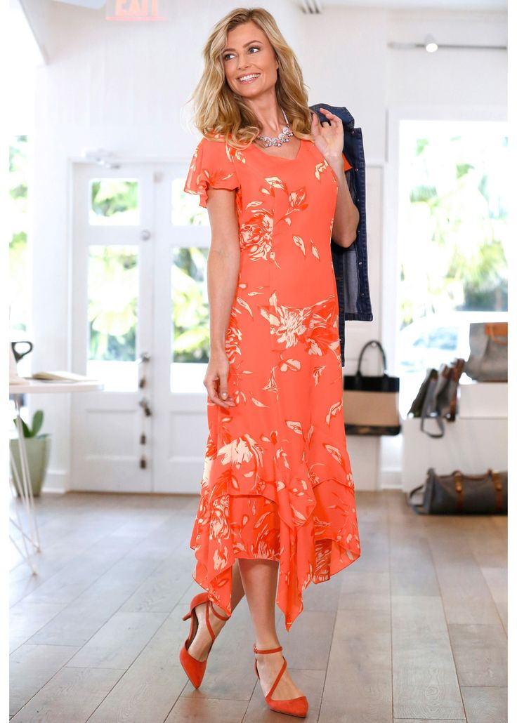 Kleid mit Blumendruck lachs bedruckt - bpc selection jetzt im Online Shop von bonprix.de ab ? 33,99 bestellen. Mit diesem geschmackvollen Kleid bezaubern ...