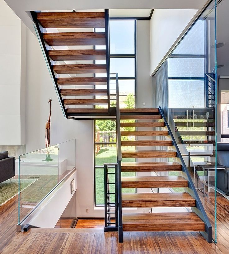 Staircase4 Modern House Nearby Lake Michigan With a Sense of Verticality by Joseph Trojanowski