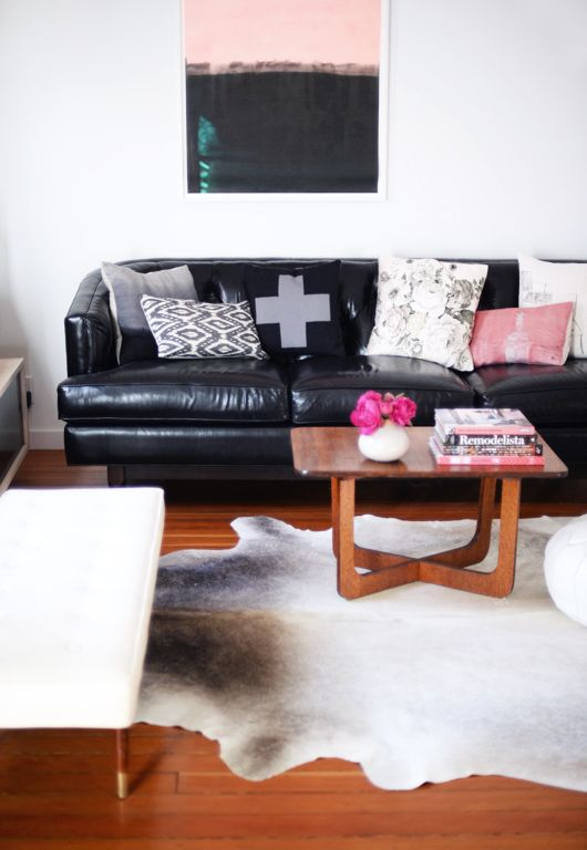 Black Couch Living Room Decor Ideas: 25+ Best Ideas About Black Leather Couches On Pinterest