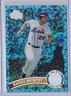 DANIEL MURPHY RARE 2011 TOPPS UPDATE BLUE HOPE DIAMOND 15 /60 METS
