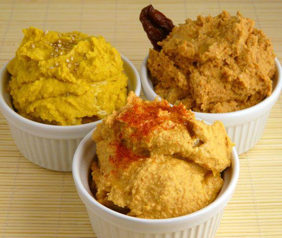 TODAS LAS RECETAS : Receta de hummus de sabores: curry, tomate y pimentón