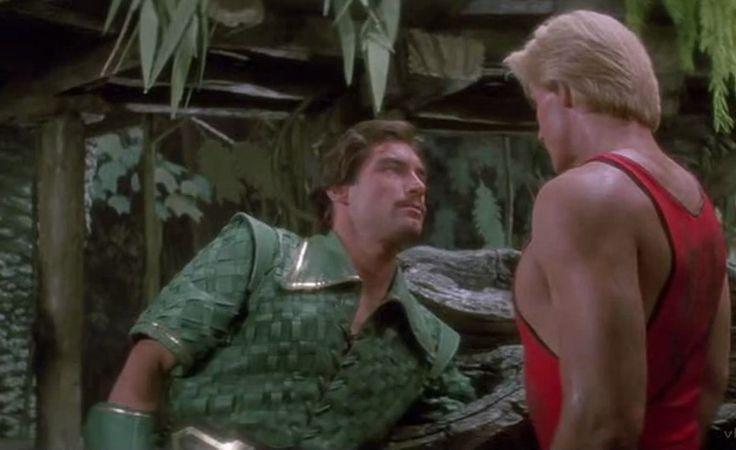 Timothy Dalton as Prince Barin with Sam J Jones as Flash in Flash Gordon 1980