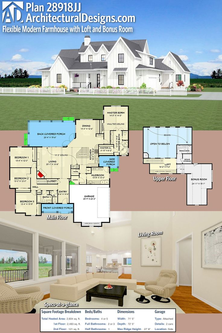 architectural designs house plan 28918jj is a country farmhouse with 4 beds with just over 2600