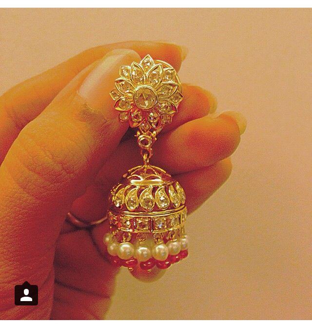 Shruti sushma fine jewellery   Diamond jhumkas