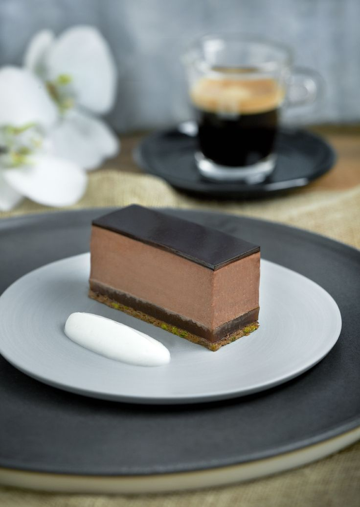 Pavé of bitter chocolate with burnt orange and Ristretto coffee