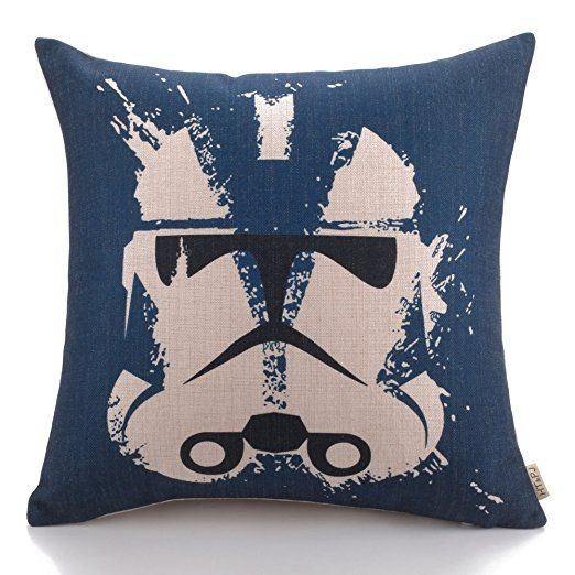 HT&PJ Dekorativ Baumwolle Leinen Mischung Sofa Kissenbezug Star Wars Storm Trooper Muster 45cmx45cm