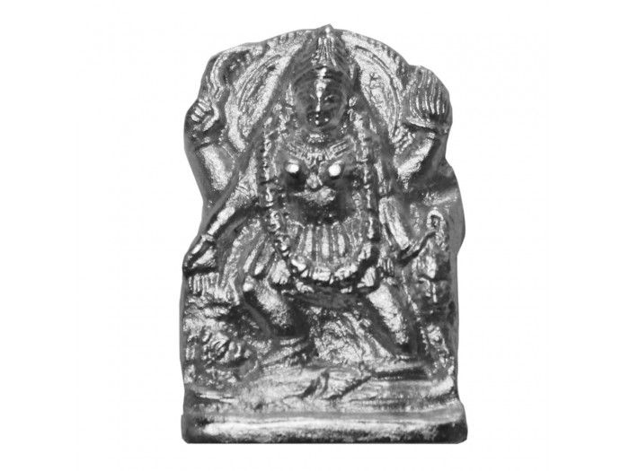 Parad Maa Kali - 39 gms, BuyParad Maa Kali - 39 gms online from India : Dimensions: 1.25 inches (H) x 0.75 inch (W) Maa Kali made of pure solidified mercury (Parad). Kali idol made of parad is very effective in removal of hurdles and miseries of life. Kaali comes from the Sanskrit root word Kaal which means time. There is nothing that escapes the all-consuming march of time.