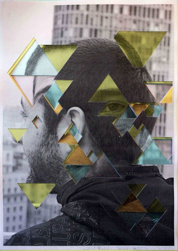Abstract Portrait- Lucas Simões, I admire the collage and layering of images to build up the portrait, It shows a modern style and the use of city buildings really adds to the character of the portrait