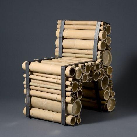 Bamboo Chair - Designer Yksi Design (Dutch Design) - Een stoere, robuste eyecatcher! Hoe die zit worden vragen bij gesteld, maar om te zien is het erg stoer.