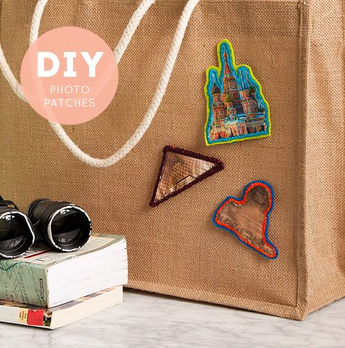 DIY Project: Landmark Photo Patches #traveltheworld