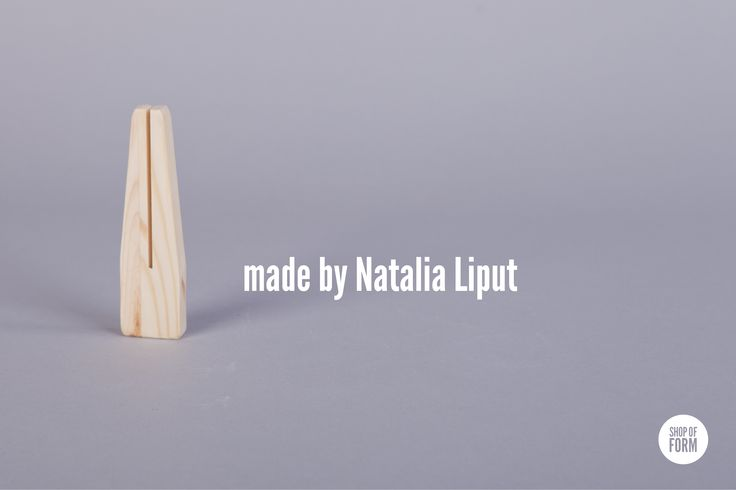 #wooden #clip by Natalia Liput #young #designers #polish #Poland #Lodz #shopofform #handy #home #accessories photos are made by Marta Jagielska.