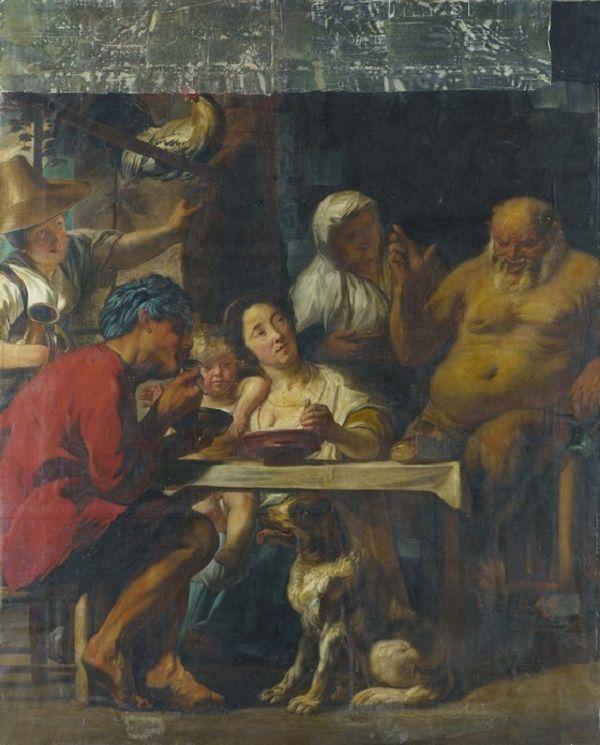 Jacob Jordaens - Sater en boer