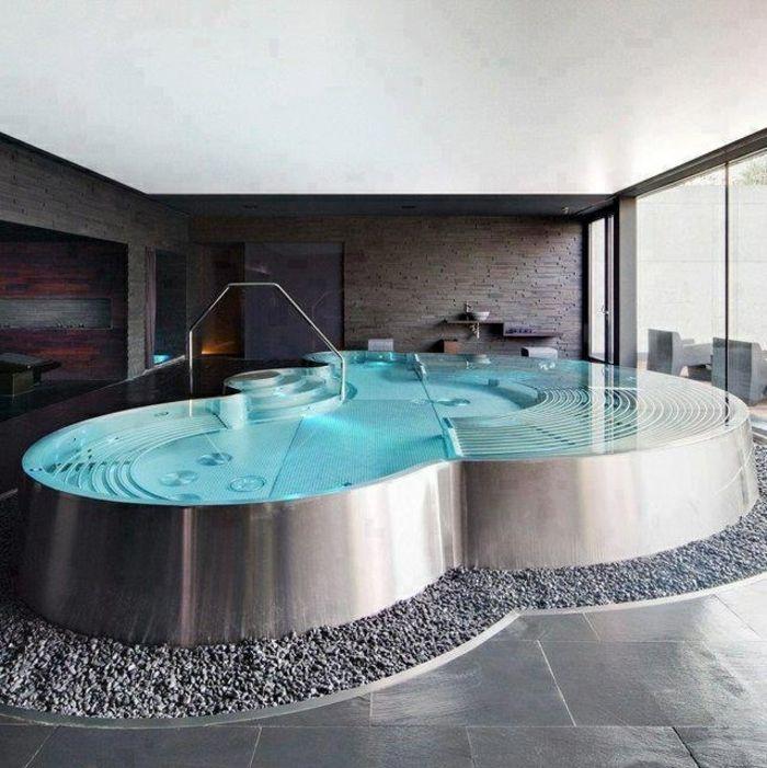 Les 25 meilleures id es de la cat gorie baignoire jacuzzi for Salle de bain avec jacuzzi