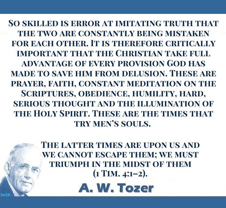 A W Tozer Quote