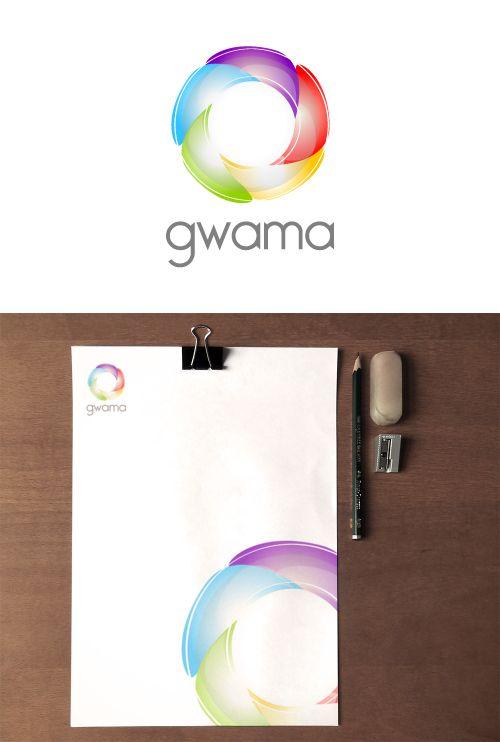 Gwama /  www.estudio201.com Diseño de identidad: logotipo, papelería. Dirección artística: composición de piezas gráficas.