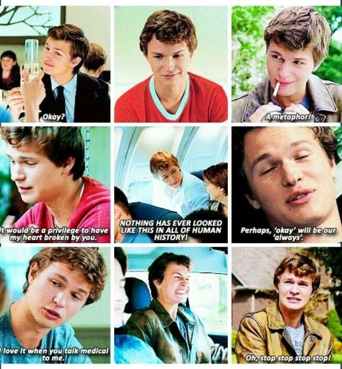 Augustus Waters quotes #tfiosI just saw the movie and had to hide my watery eyes from mom and sister! it was good, I really liked it, now I want to read the book even more! Now I blame BBC television and John Green for my high expectations in men -_-
