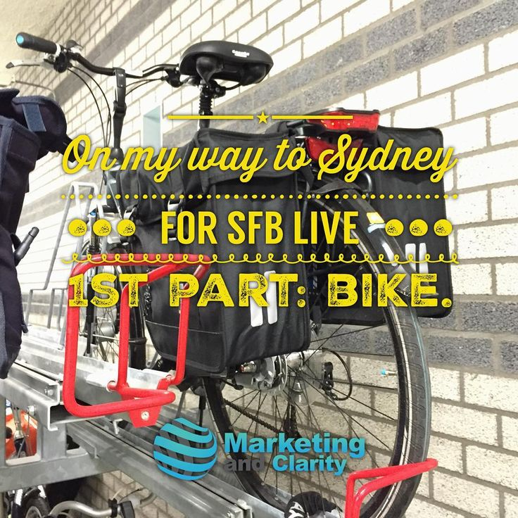 On my way to Sydney, for #sfblive 1st part: bike @superfastbusiness