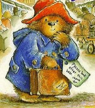 Paddington Bear  ~~my youngest son's bear .... Paddington watched over him at night ♡