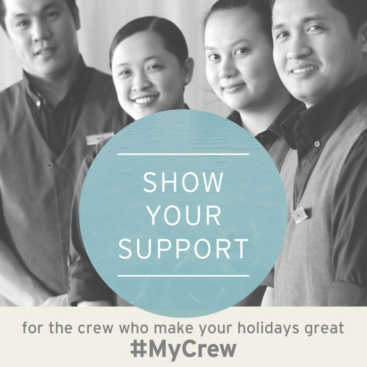 Send your messages of support to our much loved and cherished P&O staff using the tag #MyCrew and we'll make sure they receive your thoughts and well wishes.