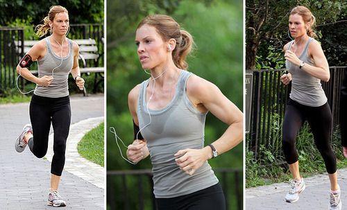 Hillary Swank work out, running | Celebrity | Pinterest ...