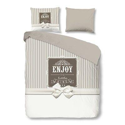 Prezzi e Sconti: #Goodmornning things parure letto grigio Casa  ad Euro 60.90 in #Fodera per piumino #Biancheria da letto