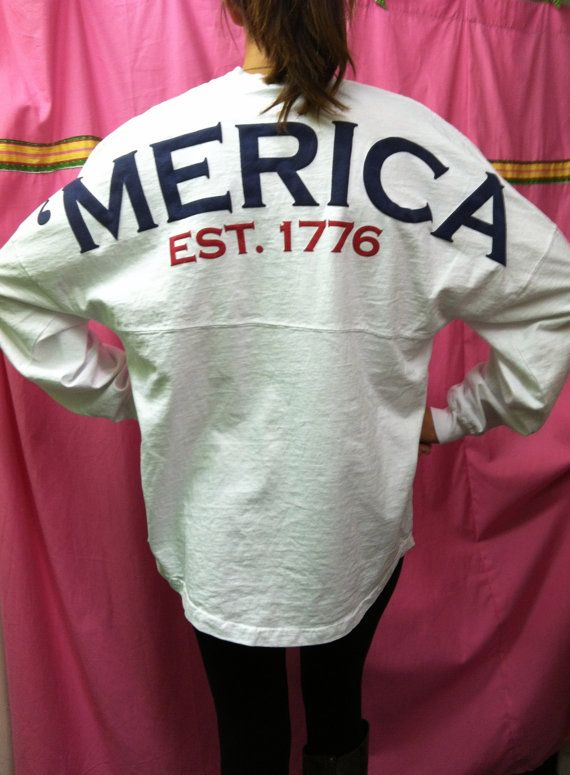 Spirit Jersey  'MERICA  In stock by whalestailboutique on Etsy, $54.95
