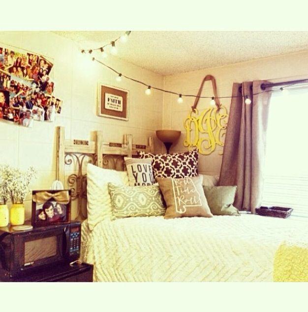 Decorating Ideas > #Cute #Dorm #Room  Cozy  Pinterest ~ 121909_Cute Dorm Room Ideas With Lights