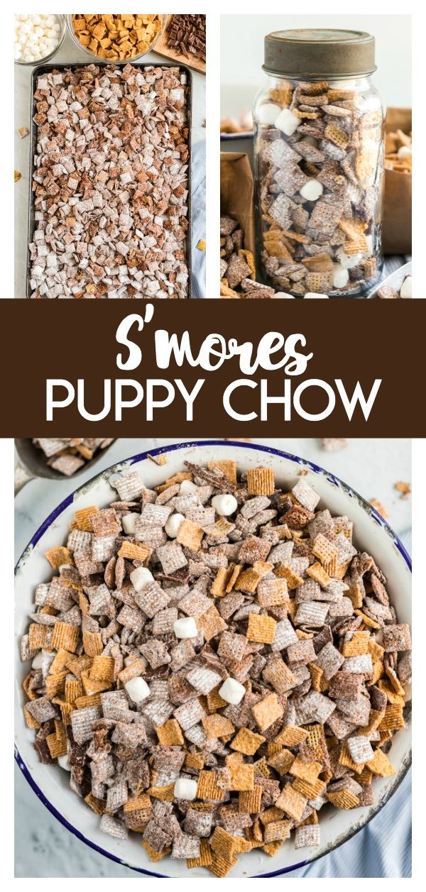 S Mores Puppy Chow Recipe Puppy Chow Recipes