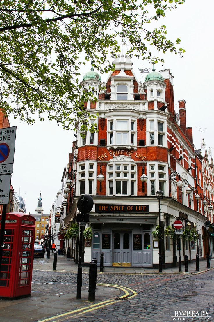 Spice of Life Pub, Soho, London.  Ready to grab a pint or a glass of wine?