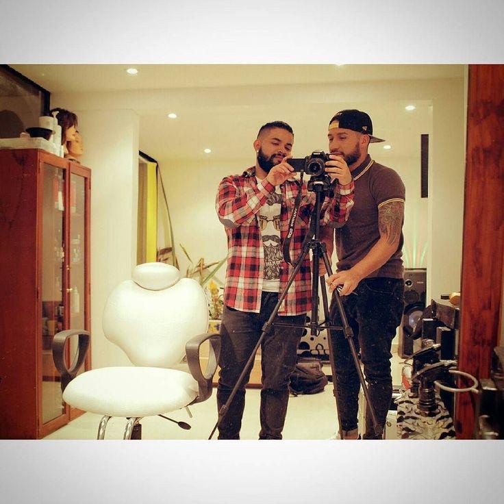 Con uno de los mejores estilistas y parceros @gilmarstyle27.