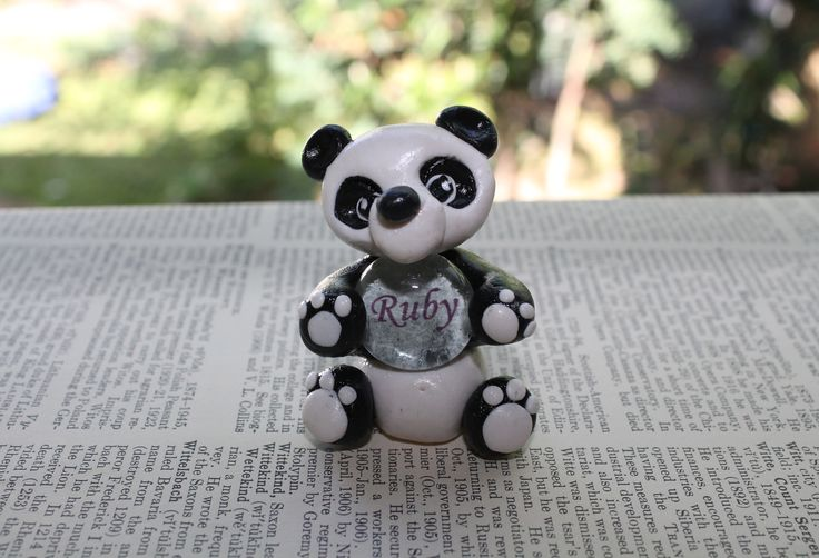 Polymer clay panda. A cute, simple gift.  polymer clay animal.