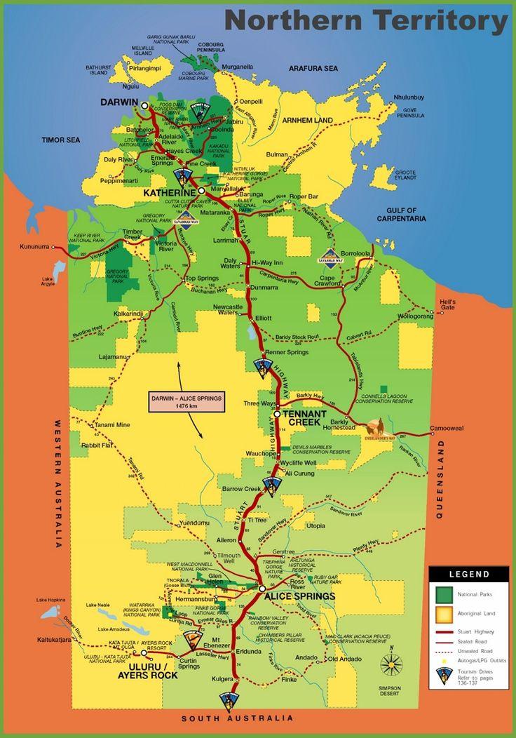 Northern Territory tourist map