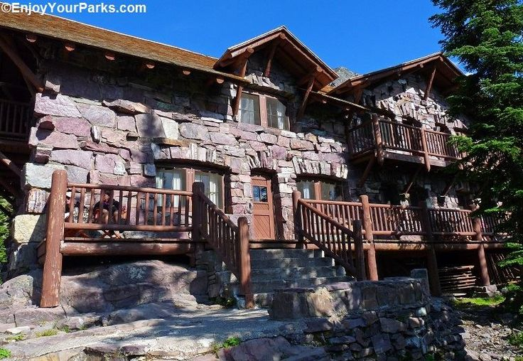 The Sperry Chalet in Glacier National Park. This historical building was built in 1914 by the Great Northern Railway and is one of only two back country chalets still standing (the other is Granite Park Chalet). You can get here by taking the Sperry Trail, which is 6.4 miles long.