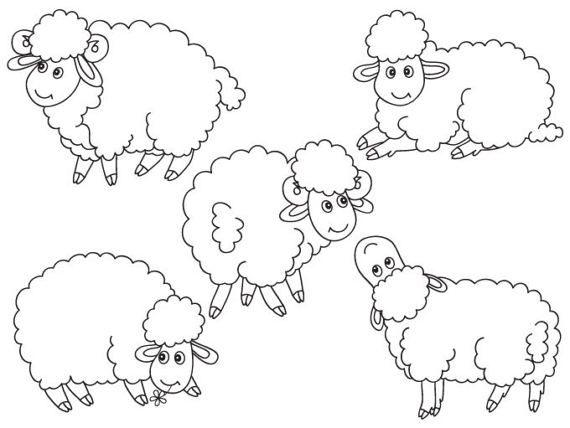 Item Sheep Clipart Digital Vector Farm Animal Lamb Baby Lamb Farm Animal Sheep Clip Art For Per Baby Farm Animals Sheep Cartoon Sheep Cartoon Images