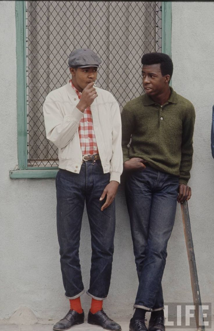 Incredibly well dressed black guys rocking the preppy Miles Davis look in Watts, LA from Life Magazine's 1966 coverage of the previous year's Watts riots / via highwatersinhell.wordpress.com