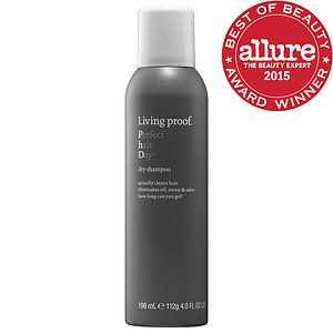 Living Proof: Perfect Hair Day Dry Shampoo - supposed to be the best and smells good too - absorbs oil, sweat, and odor for ultra-clean hair, plus a time-release fragrance that delivers a light, clean scent all day. $22 at Sephora, rec by thesmallthingsblog.com