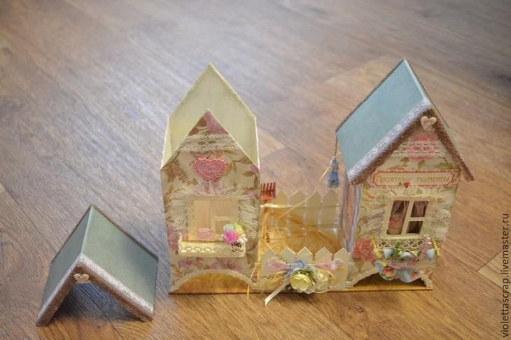 Мастер-класс: изготавливаем дуэт из чайных домиков с конфетницей